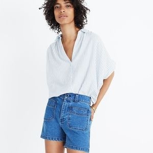 Madewell High Rise Denim Shorts patch pockets